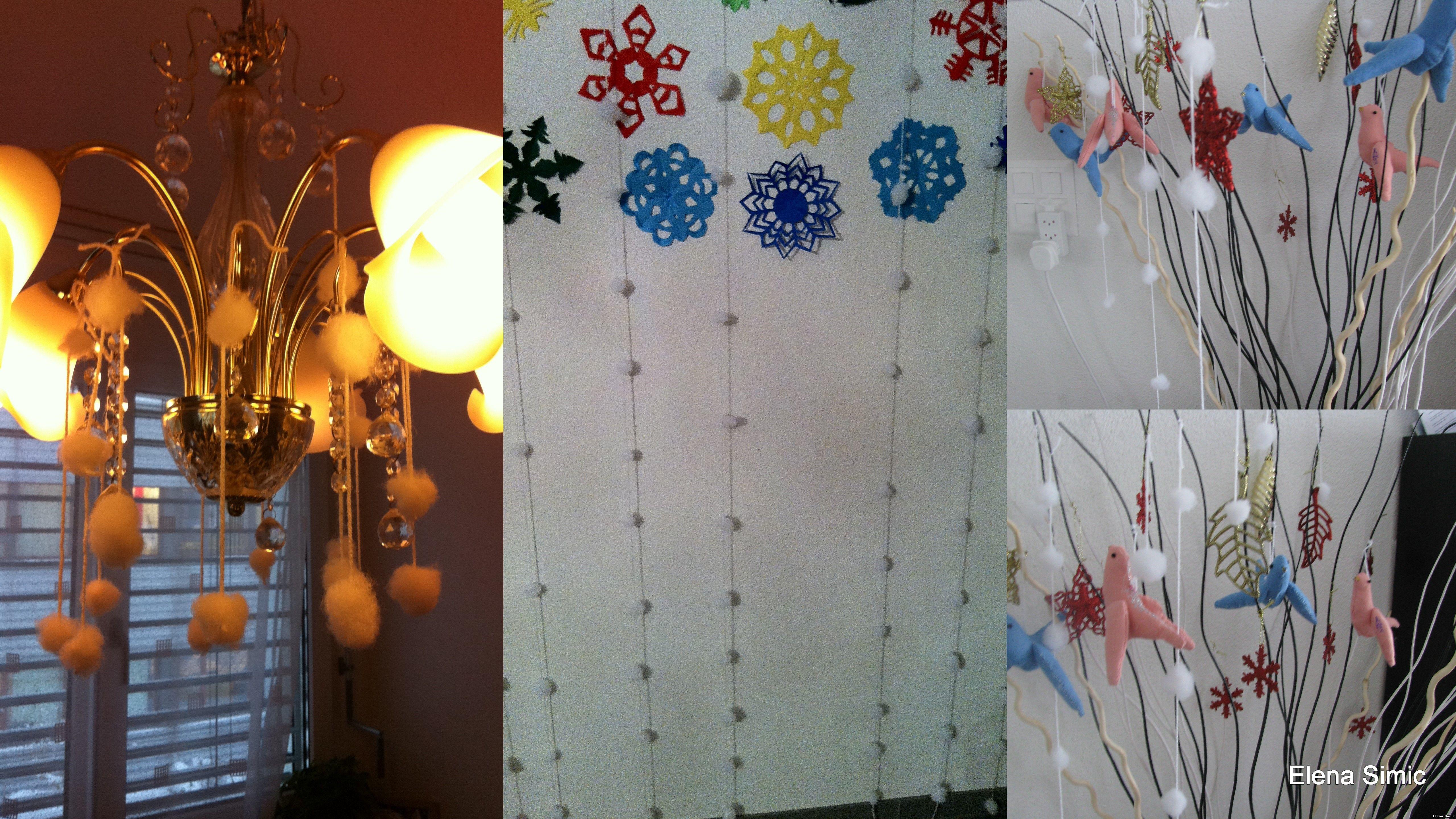 Украшение в магазине моя семья люстра в магазине моя семья на новый год